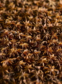 Star anise, Illicium verum, A mass of star shaped husks holding the seeds.